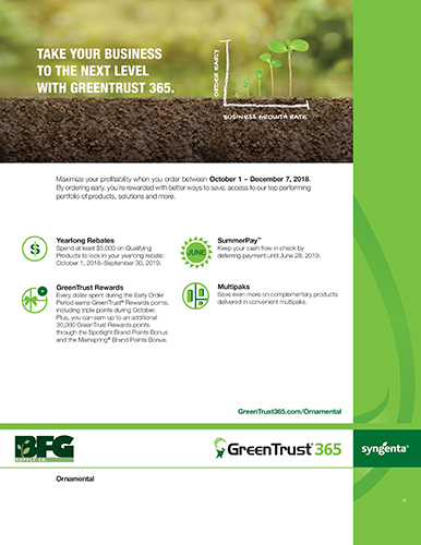 2018-19 Crop Protection Early Order Programs | BFG Supply