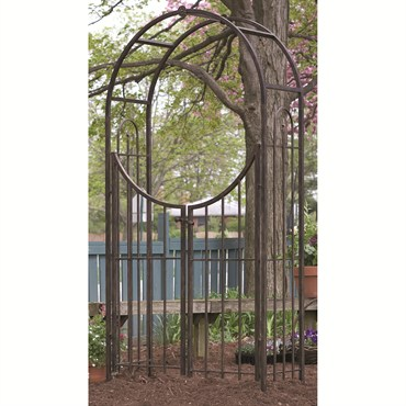 Panacea Arched Top Garden Arbor W/Gate Brushed Bronze Each
