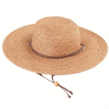 SLOGGERS WOMENS BRAIDED HAT WIDE BRIM DARK BROWN 1 SIZE  46972c0c395f