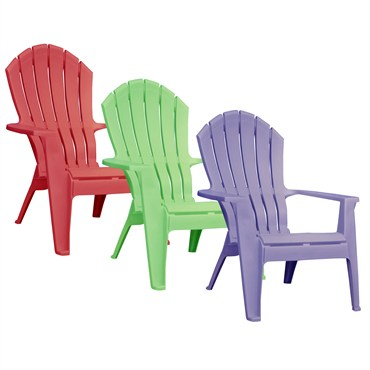 Adams RealComfort 24pk Adirondack Chair - Violet, Summer Green u0026 Cherry Red