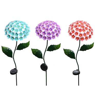 Alpine 6pc Display Solar Metal Flower Stakes w/ 43 LED Lights