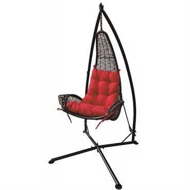 DDI Wicker Hammock Chair Red W Cupholder