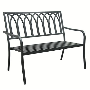 Innova Lakeside Steel Bench Black 46x28x35 Bfg Supply