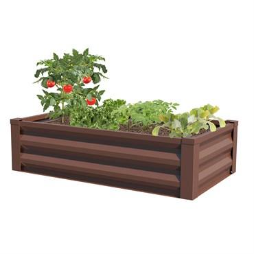 Panacea Raised Garden Planter Timber Brown