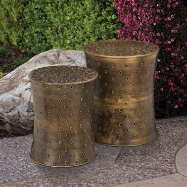 Regal Art Garden Stool Set 2 Bronze