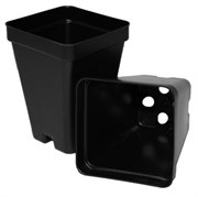 T.O. Plastics 2.5in Deep Pot SVD250 - Thermoformed - Square - Black - Sold by 800 Per Case