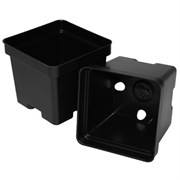 T.O. Plastics 4.5in Traditional Pot SVT450 - Thermoformed - Square - Black - Sold by 375 Per Case
