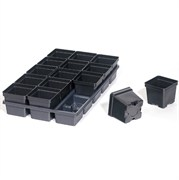 Dillen CTS4515PF Square Ribbed Carry Tray with Press Fit - Black - 50 Per Case