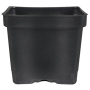 Dillen DSQVP45PF 4.5In Square Deep Press Fit Pot - Black - 375 Per Case