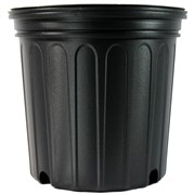 Nursery Supplies® 600CU Custom Pot Trade #2 - Blow Molded - Round - Black - Sold By 105 Per Case