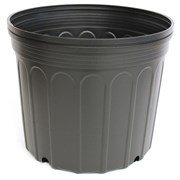 Nursery Supplies® 2800CU Custom Pot Trade #7 - Blow Molded - Round - Black - Sold By 31 Per Case