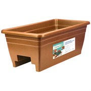 "HC 24"" Deck Rail Box Planter Terra Cotta"