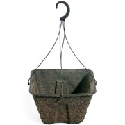 WESTERN PULP® SQUARE FIBER HANGING BASKET - 12.875IN DIAM X 7.75IN D - 2.80 GALLON CAPACITY