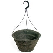 Western Pulp 12 Round Fiber Hanging Basket With Eyelets -2.09 Gallon Capacity
