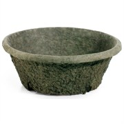 Western Pulp 12X5 Round Unwaxed Fiber Patio Planter -1.56 Gallon Capacity