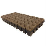 JIFFYPOT® POLY-PAK SQUARE PEAT POT IN TRAY - (220) - 2IN DIAM X 3IN DEEP POT - 50 POTS PER TRAY - 40 TRAYS PER CASE