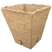 JIFFYPOT® SQUARE PEAT POT WITH SLITS - (240) - 3.5IN DIAM X 4IN DEEP POT