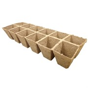 JIFFYSTRIP® SQUARE PEAT POT STRIPS - (522) - 2.25IN DIAM X 2IN DEEP POTS - 12 POTS PER STRIP - 210 STRIPS - 2550 POTS PER CASE
