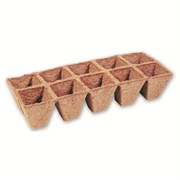 JIFFYSTRIP® SQUARE PEAT POT STRIPS - (525) - 2.5IN W X 2.25IN H POTS - 8 POTS PER STRIP - 288 STRIPS - 2304 POTS PER CASE