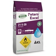 ICL Peters Excel 21-5-20 Multi-Purpose Fertilizer - 25lb HAZ