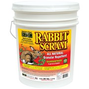 DEER SCRAM 25# RABBIT SCRAM REPELLENT GRANULAR WHITE PAIL