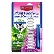BioAdvanced 2-In-1 Insect Protection With Fertilizer Plant Spikes