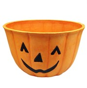 ENVIROBLEND 10IN PUMPKIN PLANTER W/FACE 12/CS