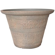 E-BLEND 16IN TUMBLED SCROLL PLANTER EARTH 12/CS