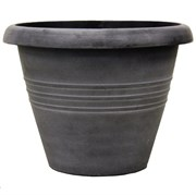 13.00 ROUND TRIO PLANTER AGED BLK 36/CS