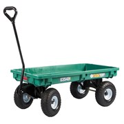 "Millside 20""X38"" Plastic Deck Wagon With 4X10 Tires"