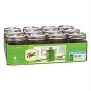 BALL PT CANNING JAR WIDE MOUTH 12/CS