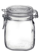 FIDO SQUARE CLEAR JAR .75 LT 12/CS