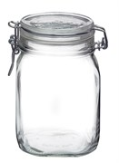 FIDO SQUARE CLEAR JAR 1 LITER 12/CS