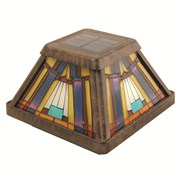 MOONRAYS INGLENOOK 6X STAINED GLASS POSTCAP (4/CS)