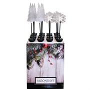 MOONRAYS SOLAR TALL TREE STAKE LIGHT (16/PC) DISP
