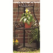 Panacea Black Olde World Forged Corner Plant Stand