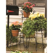 21 in Round Plant Stand Black 6/cs