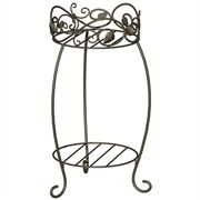 "Panacea Plant Stand 21.5"" Scroll & Ivy Black Brushed Bronz"