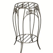"Panacea Double Plant Stand With Finial 20"" Black"