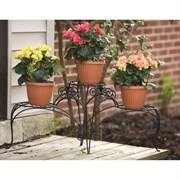 Panacea 3 Tiered Plant Stand With Finial Black
