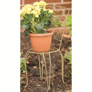 21.5 in H Chair Plant Stand Ant-Willow 4/cs