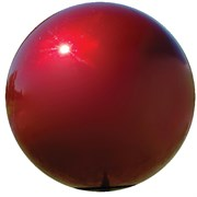 "VCS 10"" MIRROR BALL RED"