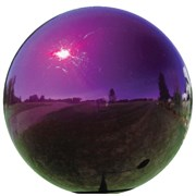 VCS® 12in Stainless Steel Gazing Globe - Purple 1/CS