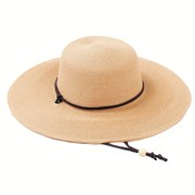SLOGGERS WOMENS BRAIDED HAT WIDE BRIM LIGHT BROWN 1 SIZE