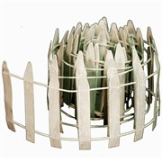 "E-V 48"" Mini Garden Roll Fence White"