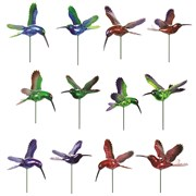 Exhart 7in Hummingbird Plant Stakes 24/cs