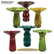 Michael Carr 18pc Bird Bath Assortment - Green/Turquoise/Red/Yellow