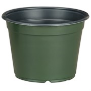 DILLEN® CO-EXTRUDED ROUND 6INPOTS - GREEN OUTSIDE/BLACK INSIDE - (864/CS)