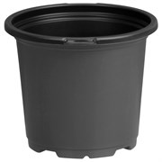 Dillen 4.5In Co-Extruded Round Geranium Pot With Tag Locator - Black Outside/Black Inside - 720 Per Case