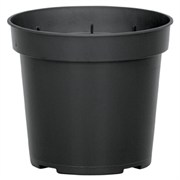 DILLEN® INJECTION MOLDED THINWALL 4.5IN POT - BLACK - (850/CS)